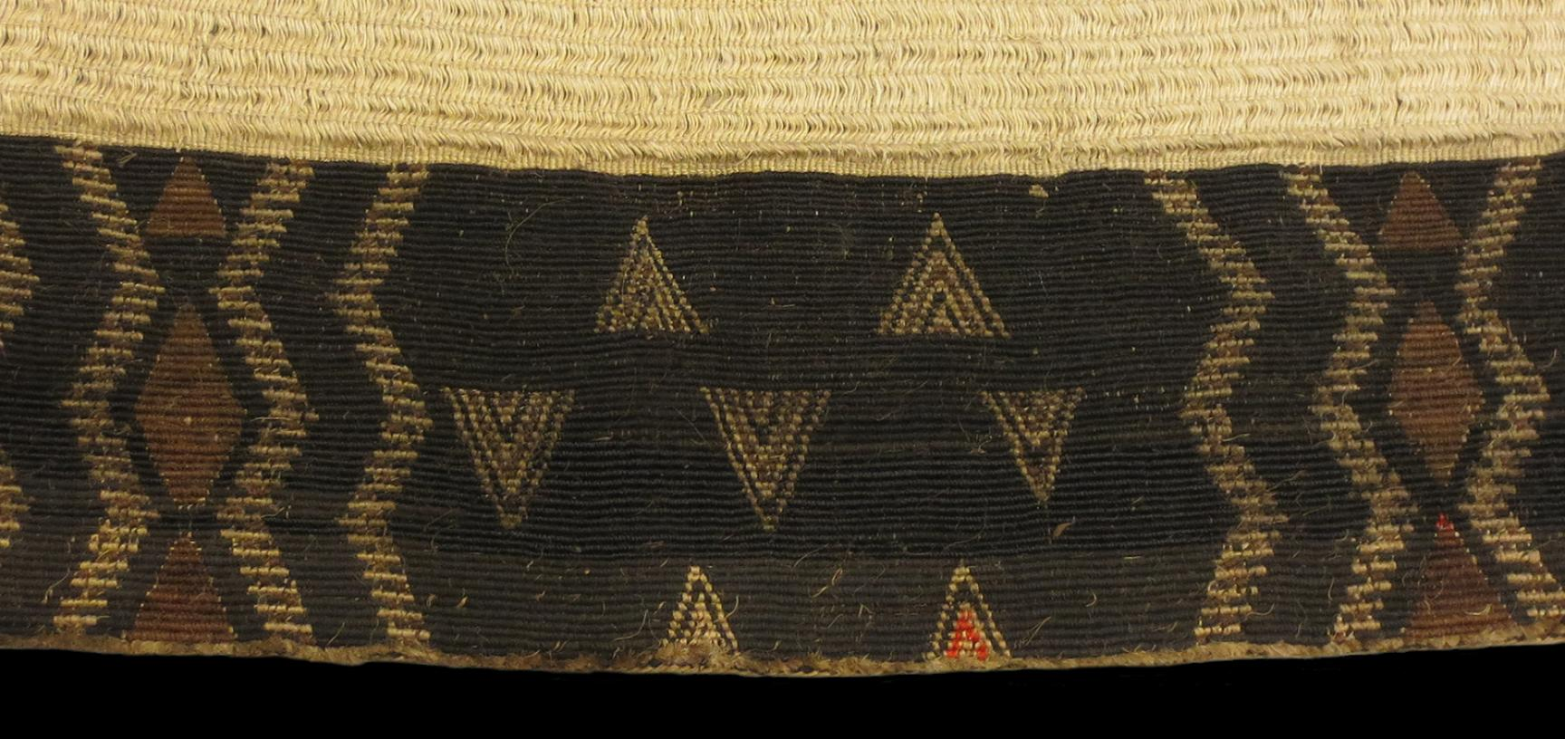 Detail of tāniko border on cloak (1923.87.162)