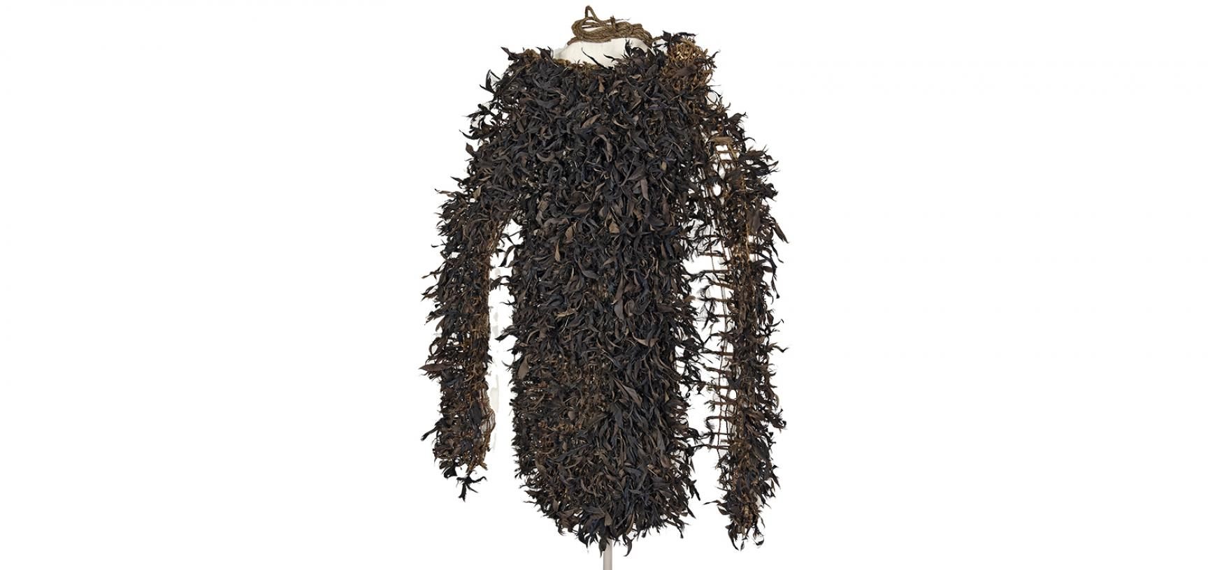 The feather cloak of the mourner's costume (1886.1.1637.4)