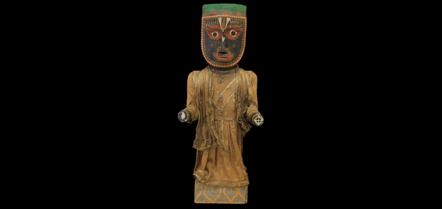 Jagannath figure (1894.28.1) during conservation