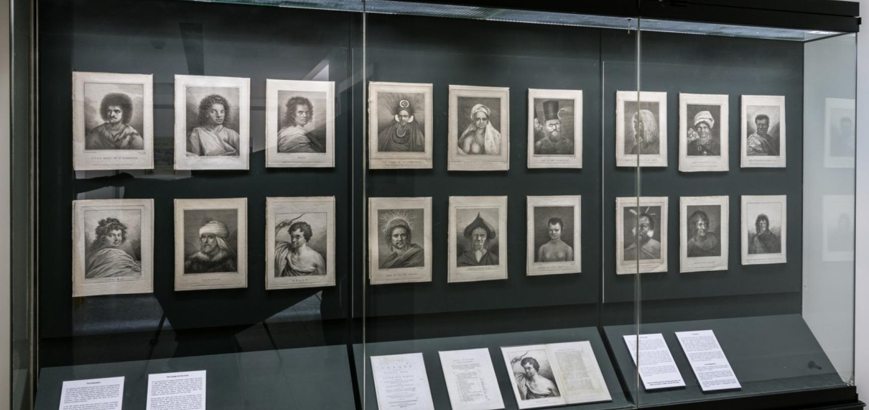 "'""A Variety of Portraits of Persons"": From the Official Account of Cook's Second Voyage to the Pacific (1772–1775)', Pitt Rivers Museum, University of Oxford, 28 May to 23 September 2018. (Copyright Pitt Rivers Museum, University of Oxford)"