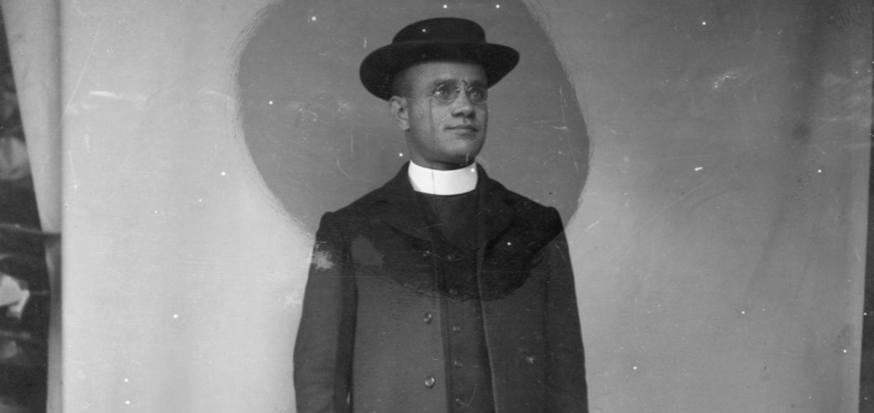 Portrait of Harley, one of several in his personal archive, here pictured dressed as a curate. Photographer unknown. Circa 1911. (Courtesy Michael Wortley)