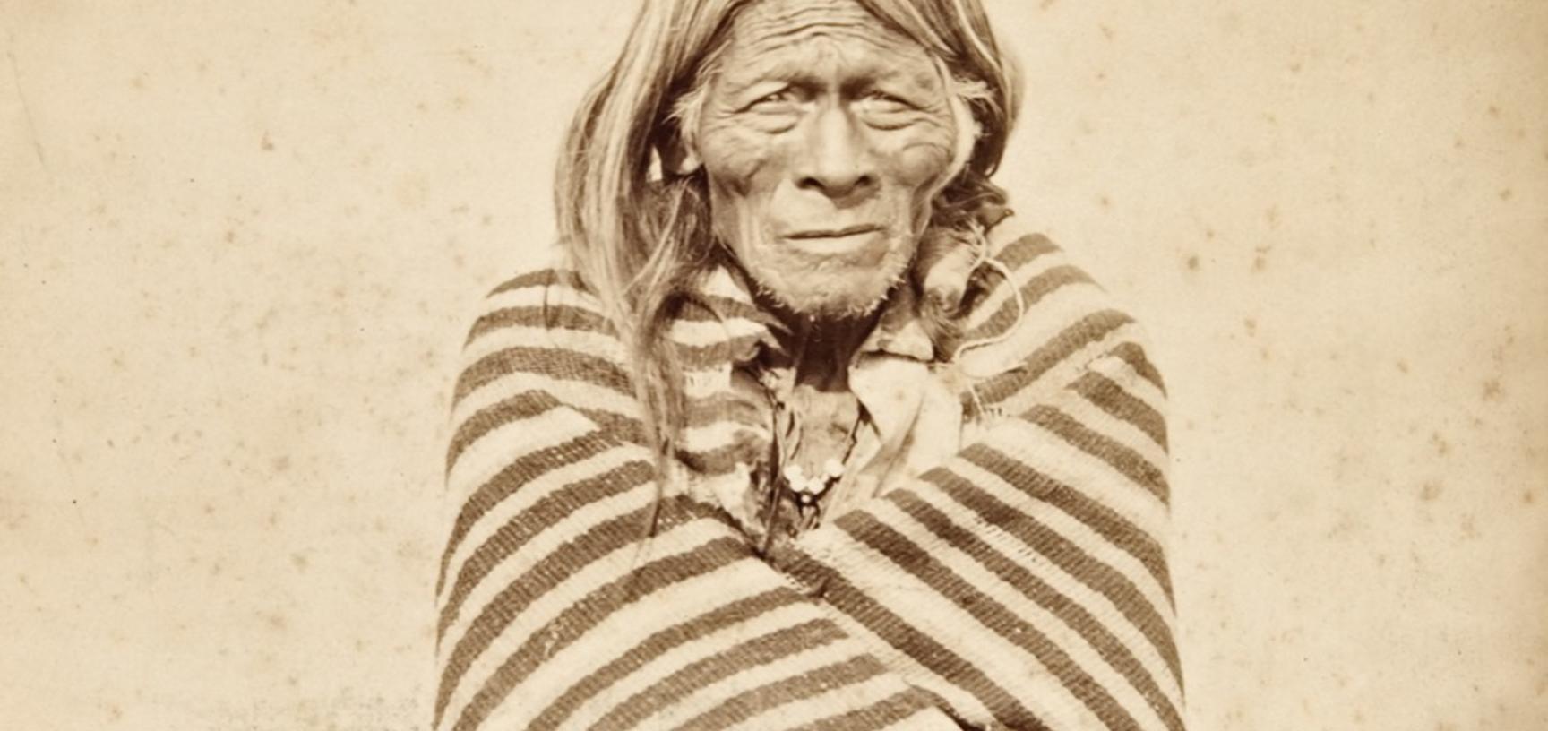 Portrait of an elderly man named Wahu Tota.