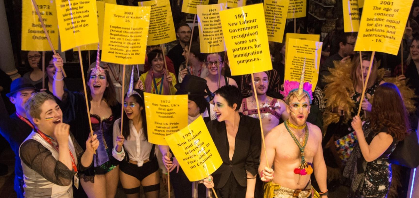 Party at the Pitt, 2017. More than four hundred people attended this flagship event for 'Out in Oxford', an initiative to reveal and celebrate the LGBTQ+ stories held within the University of Oxford's museums and collections.