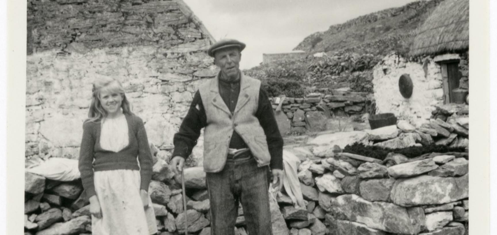 'Man wearing homespun tweed' (typed caption). Photograph by Ingegärd Vallin. Aran Islands, County Galway, Ireland. 1949.
