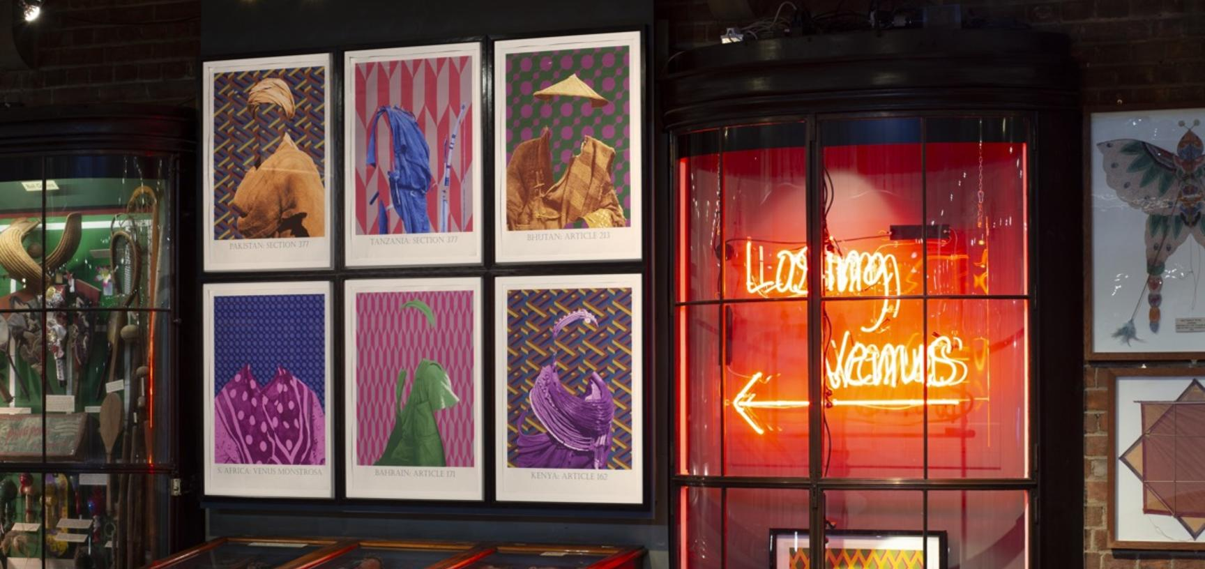'The Prints' by Matt Smith, display comprising part of his exhibition 'Losing Venus', Pitt Rivers Museum, University of Oxford, 4 March to 29 November 2020.