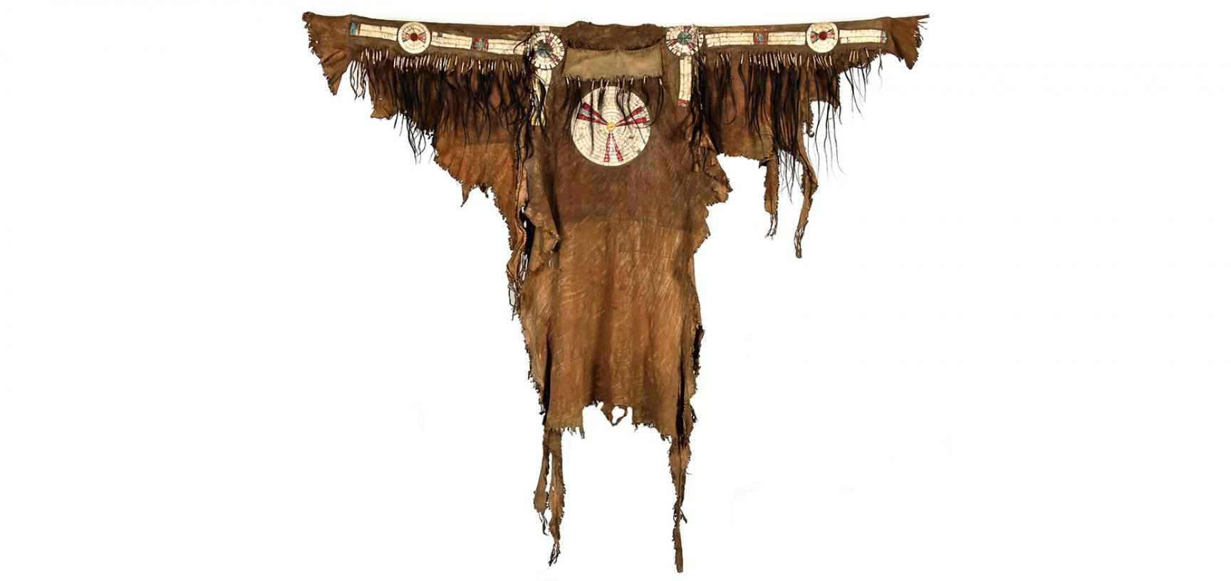 Blackfoot hide shirt (1893.67.4) after conservation