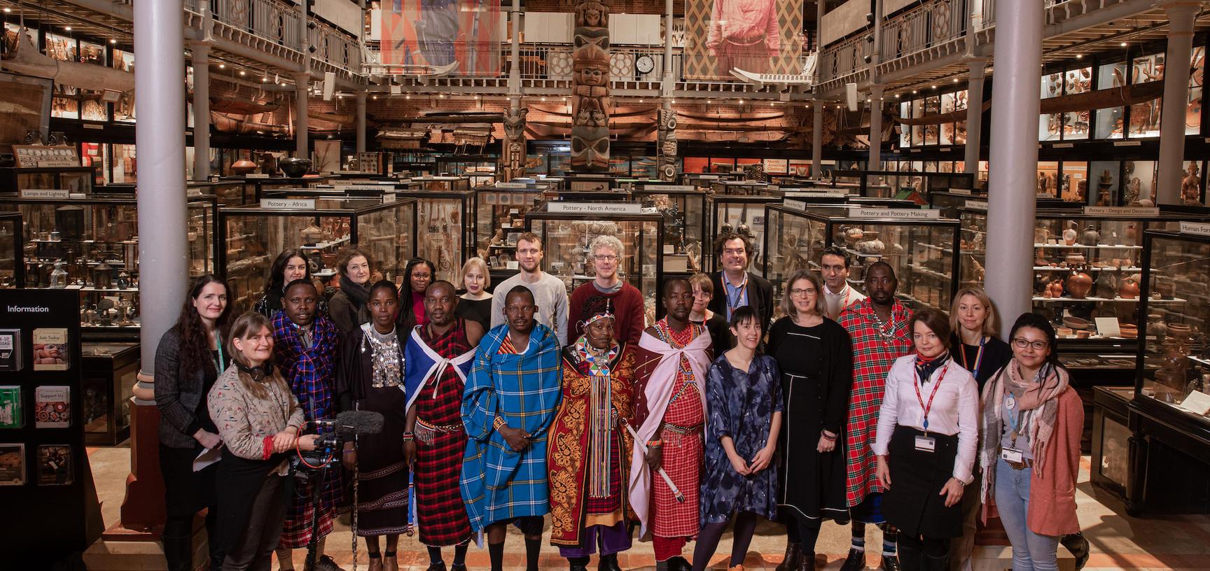Maasai group with Pitt Rivers staff and associates