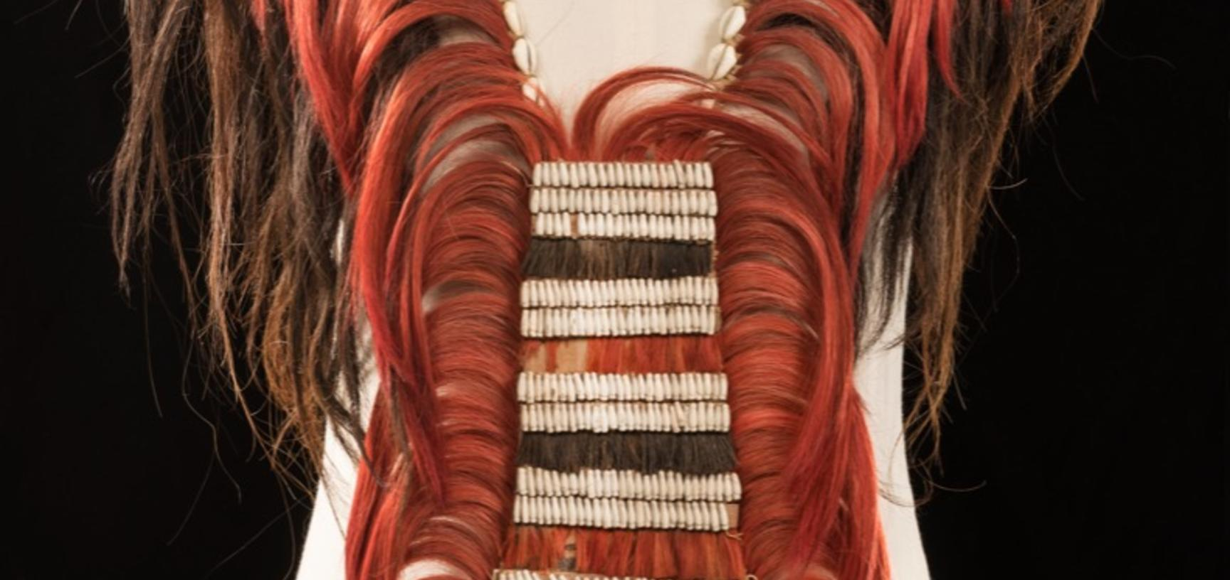 Angami Naga neck and breast ornament. Collected by Robert Gosset Woodthorpe; donated to the Pitt Rivers Museum by Edward Thomas Wilson, May 1909.