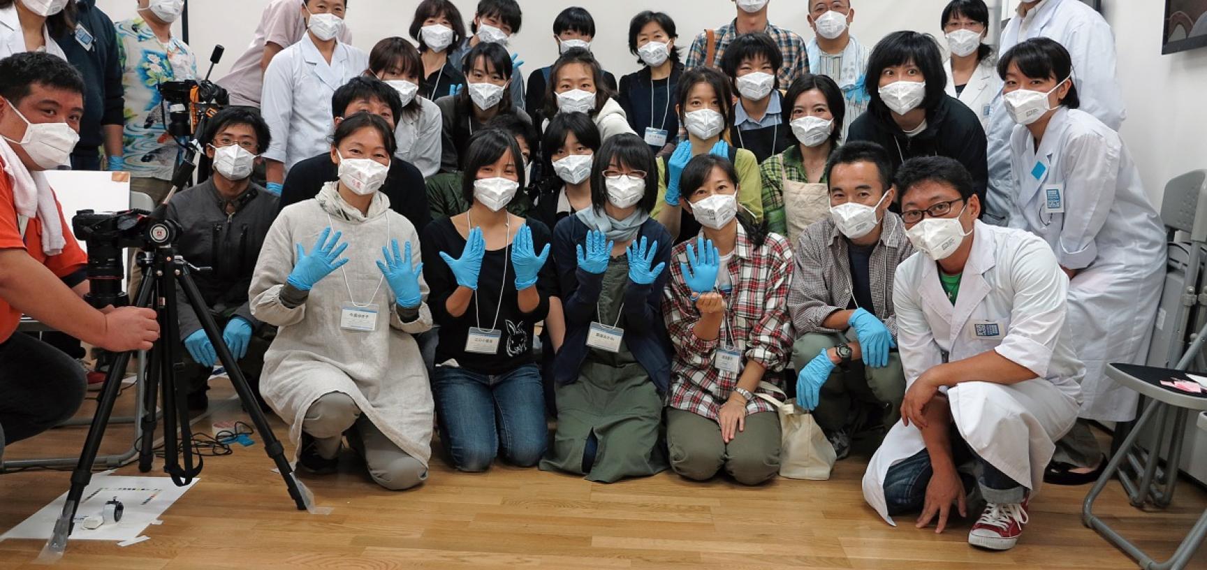 Members of the Rikuzentakata Disaster Document Digitalization Project. (Copyright RD3 Project/Rikuzentakata City Museum)