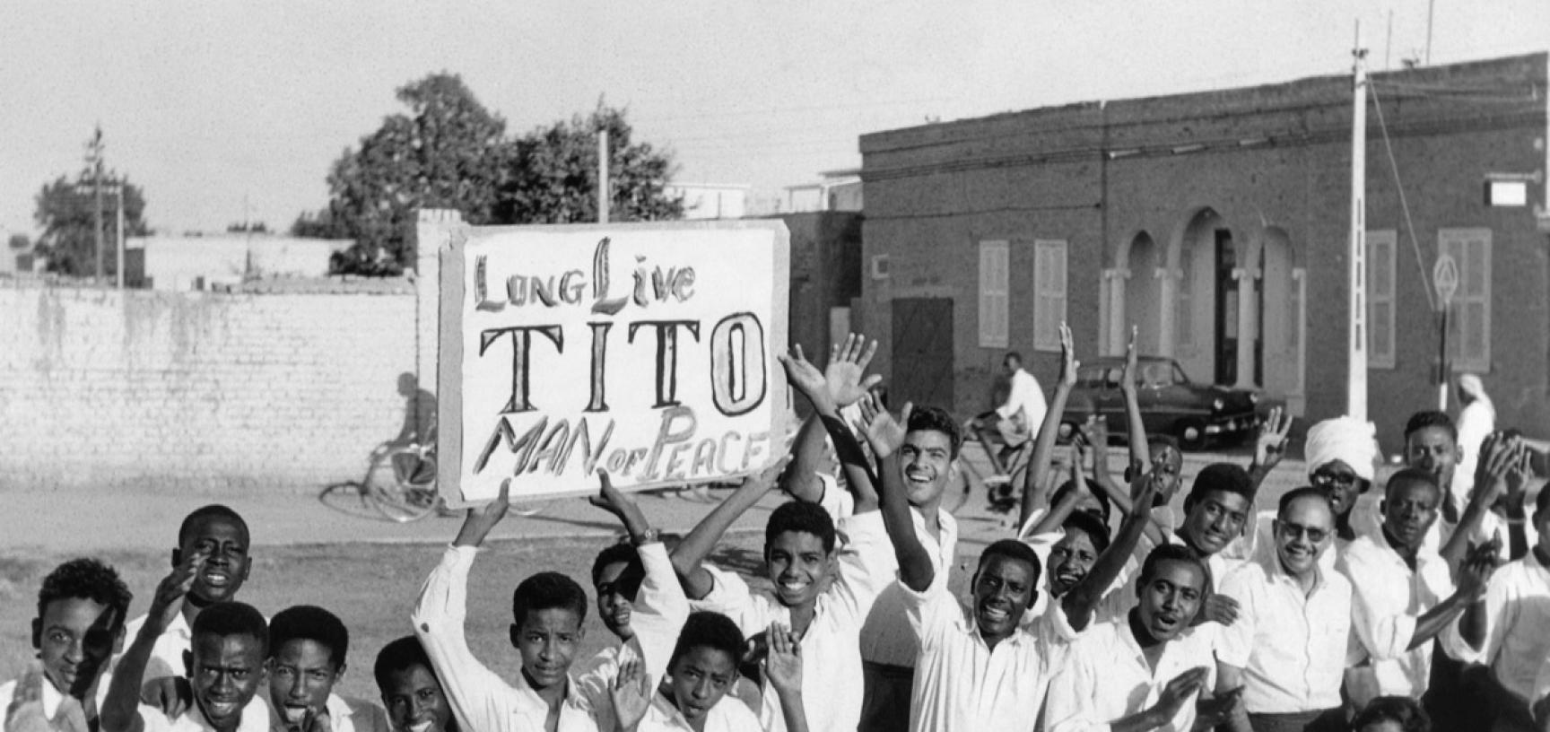Sudan, 1959. The people gathered to welcome President Tito in Barakat. (Copyright Museum of Yugoslavia, Belgrade)