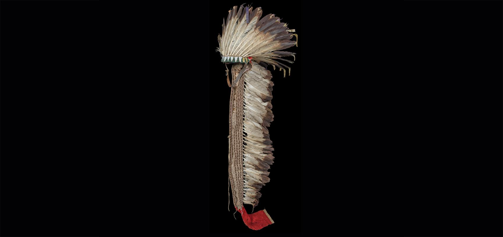 War bonnet (1954.8.140) after conservation