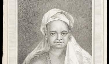 Woman of the Marquesas Islands (name unknown), engraved for publication by John Hall after an original drawing by William Hodges. (Copyright Pitt Rivers Museum, University of Oxford. Accession Number: 2013.28.135)