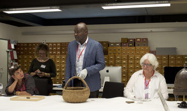 Wycliffe Oloo Omondi, speaking about Kenyan baskets in 2019