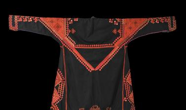 Embroidered dress (reverse). Saraqib, Syria. Mid-twentieth century.
