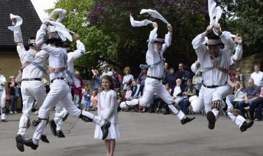 Dancing at the Kirtlington Lamb Ale 2016. (Courtesy Kirtlington Morris)
