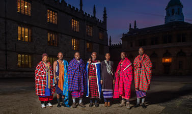 Maasai group at Bodleian Library, Oxford