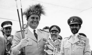 Ethiopia, 1955. Josip Broz Tito and Emperor Haile Selassie at the site of the historical Battle of Adwa. (Copyright Museum of Yugoslavia, Belgrade)