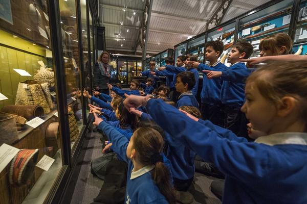 Primary school children at museum