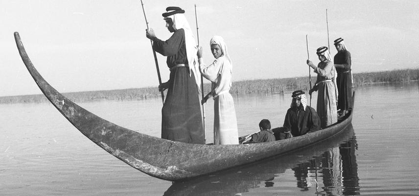 Wilfred Thesiger's tarada (Sheikh's canoe), Iraqi marshes, 1953