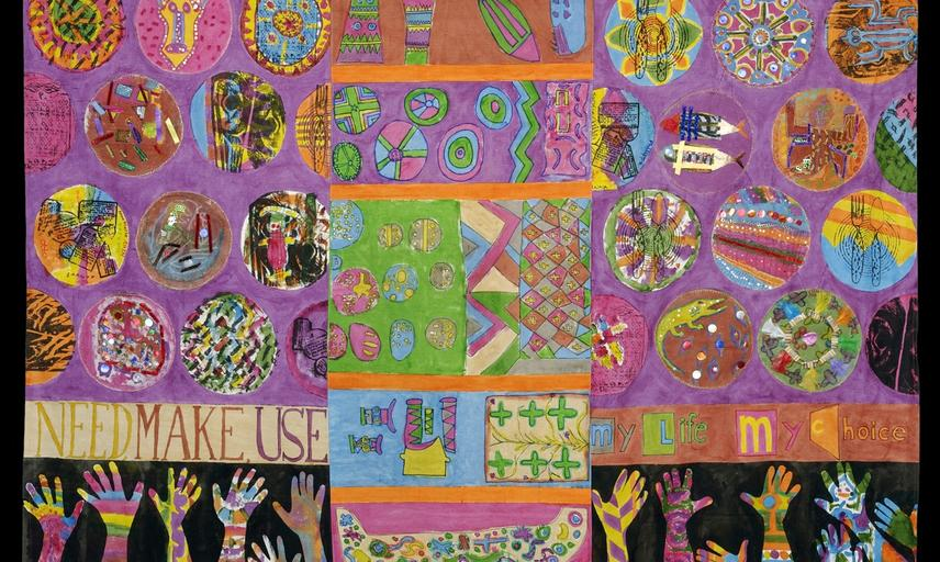 Pop-up Pitt Rivers' tent panel. Our 'pop-up museum' tent travelled to festivals and shopping centres across the region.