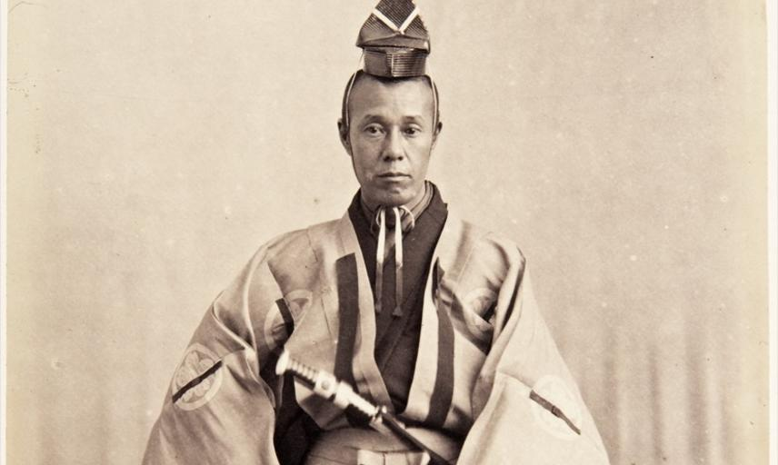 Rentarō Tanaka. Photograph by Jacques-Philippe Potteau. Paris, France. 1864.