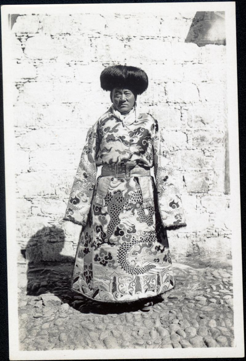 Portrait of Tsarong in Lhasa, by Frederick Spencer Chapman,  PRM 1937.1998.131.470.3.